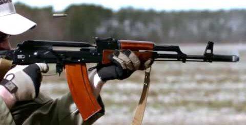 Завораживающее видео стрельбы из АК 74   Разное   Mover uz