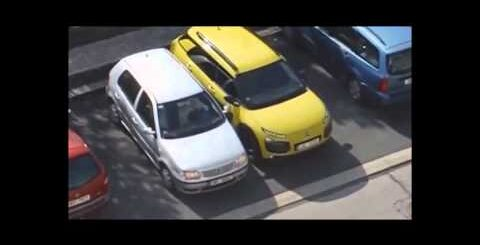 Blonde woman stars in world's worst car parking fail that's almost too painful to watch