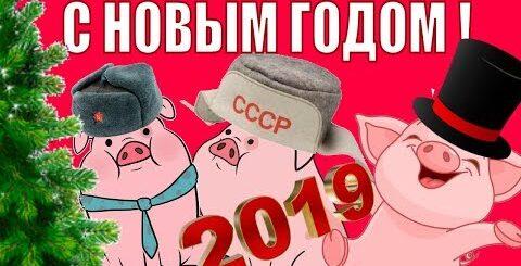 🐷Прикольное поздравление с Новым годом ! 🐷 Новогодняя песня 🐷!
