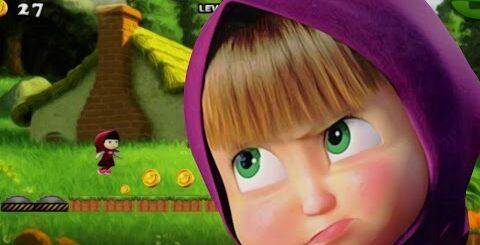 Маша и Медведь красная шапочка! Игры и приколы на Андроид с маша и медведь. Игры как мультики