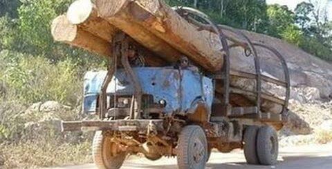 Приколы c русскими грузовиками.Нелепые моменты.