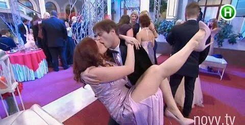 Поцелуй на Новом канале. Приколы на ТВ. Alex Angel