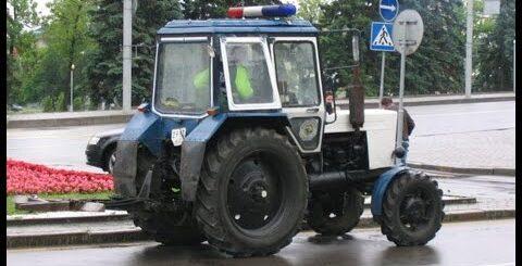 Приколы с тракторами и трактористами - часть 1! :)